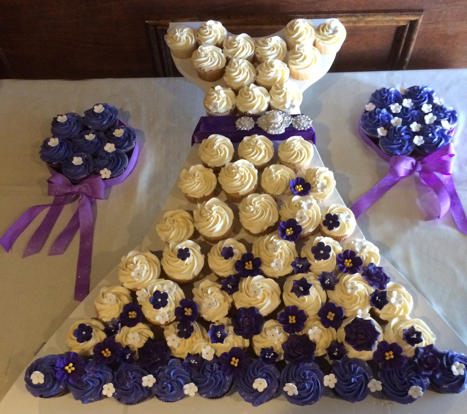 bridal shower cupcake dress