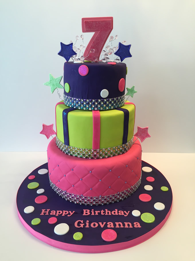 Cake to Remember for Girl turning 7 years old Maddies Cakes